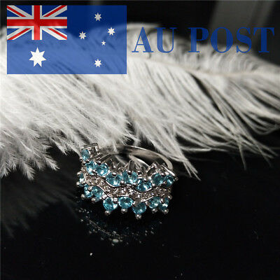 Women Ring Crystal Silver Plated Engagement Party Wedding Jewelry Fashion Gifts