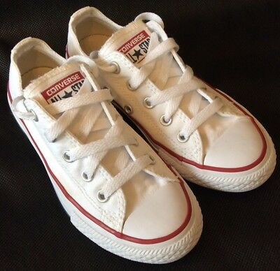 CONVERSE ALL STAR Chuck Taylor Kids Uk 12 White Canvas Girls Or Boys VGC 43eba0bfd