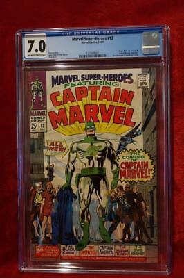Marvel Super-Heroes 1967 #12 1st Appearance of Captain Marvel!! CGC 7.0