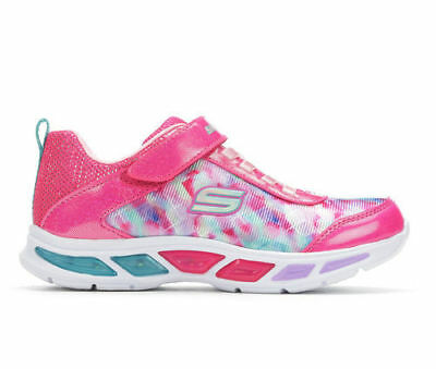 NEW Skechers Little Kid Litebeams-Colorburst Light-Up Shoes - Pink - Size: 5
