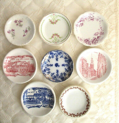 Lot 8 Different Antique Butter Pats/mini Plates Hanley Jonroth Johnson Bros 3""