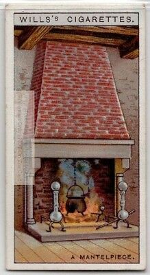 History Of The Fireplace Mantlepiece 90+  Y/O Ad Trade Card