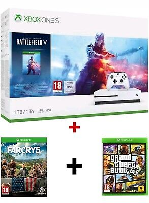 Vend Pack Xbox One S Battlefield V, 1To 4K HDR NEUF. GARANTIE. + 3 Jeux Offerts.