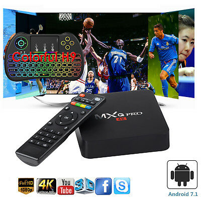 Affordable MXQ PRO Smart TV Box Quad Core WIFI 4K 3D Films USB HDMI Keyboard H9