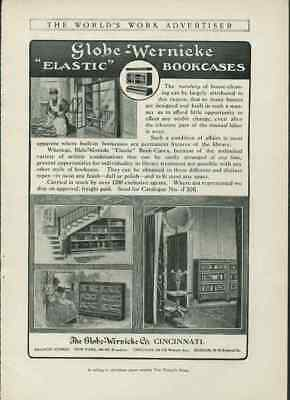 1907 Globe Wernicke Bookcases Elastic Antique Furniture Vintage Paper Ad