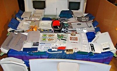 Airline Galley Cart Full of Boeing 747 Airplane Interior Parts and Collectibles