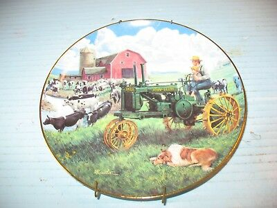 Days Of Splendor John Deere Tractor Plate By Mort Kunstler