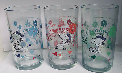 SNOOPY BERET BEVERAGE GLASS SET of 3