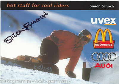 Simon Schoch Snowboard TOP AK Orig. Sign. + G 5065