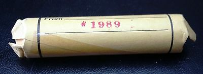 Rare 1989 Canada Bank Roll Of Pennies - Small Cents - Bu Unc - Free Combined S/h