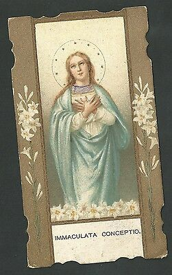 Estampa antigua Virgen Inmaculada Concepcion Andachtsbild Santino Holy Card