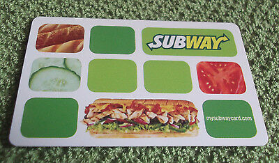 Subway Gift Card 2016 Collectible $0 value -- Canada