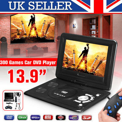 "RED 13.9""inch HD TV Portable DVD Player 16:9 LCD 270° Swivel Screen 110-240V"