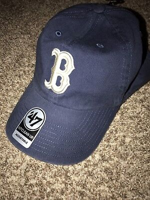 new products 7f17a 07346 ... get boston red sox 47 brand clean up slouch adustable hat cap blue  b354a dedd9