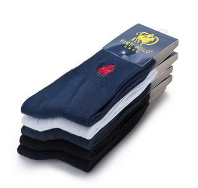 20 Pairs Mens 100% Cotton pier Polo Casual Business Classic  Dress Socks Warm