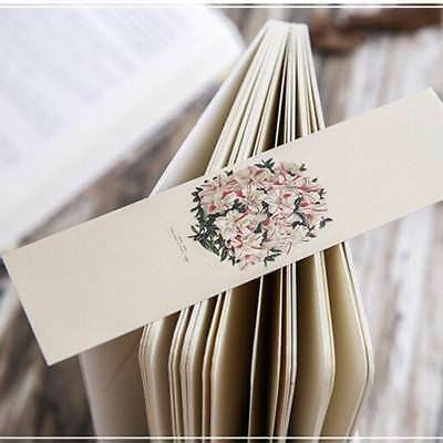 30PCs/lot  Stationery Book Holder Message Card Chinese Ancient Flower Bookmarker