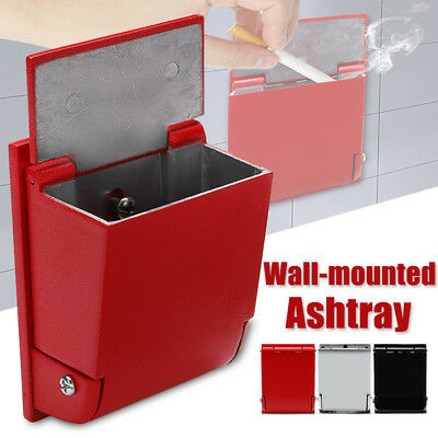Wall Mounted Cigarette Ashtray Aluminum Alloy Holder Toilet Outdoor Smoke Tool