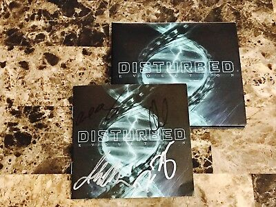 Disturbed Rare Band Signed Evolution Deluxe Edition CD 2018 Heavy Metal COA New