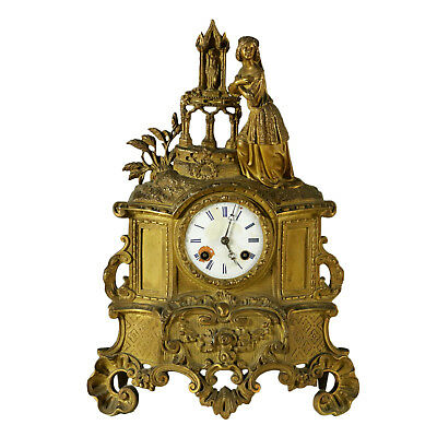 Table Pendulum Clock Eclectic Style Enameled Metal France Last Quarter of 1800