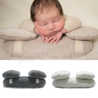 3Pcs Baby Photo Shoot Posing Pillows Newborn Baby Photography Props Beanie