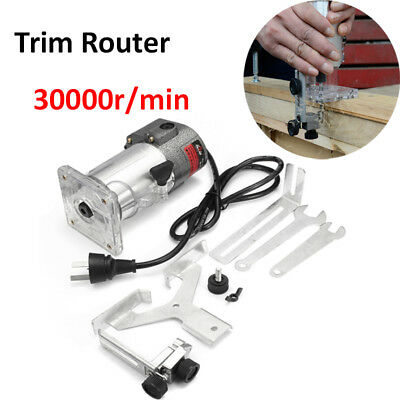 30000rpm 300W 220V Trim Router Wood Palm Laminate Clean Cuts Power Joiners
