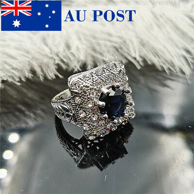 On Trend Stylish Women's Sliver Plated Wedding Engagement Rings Only Size 7