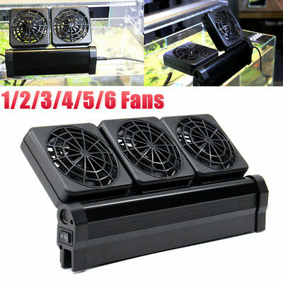 Aquarium Cooling Fan Water Fish Tank Cold Cool Wind Chiller 1/2/3/4/5/6 Heads