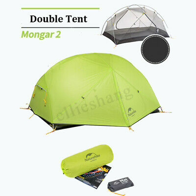 Naturehike Camping Tent 2 Persons Waterproof Nylon Double Layer Pop Up Hiking !