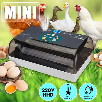 12Eggs Automatic Digital Incubator Hatcher Turning Machine Chicken Duck 110-220V