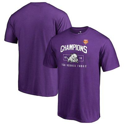 TCU Horned Frogs Fanatics Branded 2018 Cheez-It Bowl Champions Blitz T-Shirt -
