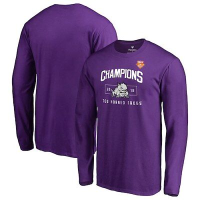 TCU Horned Frogs Fanatics Branded 2018 Cheez-It Bowl Champions Blitz Long Sleeve