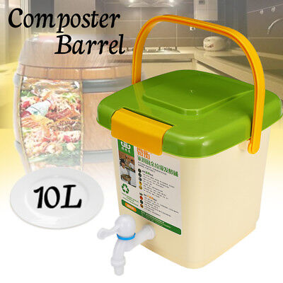 10L Recycle Composter Barrel Compost Bin Kitche  Bucket For Kitchen Food Waste