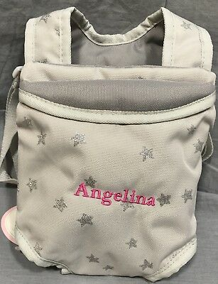 Pottery Barn Kids Gray Sparkle Stars Baby Doll Carrier 9 00