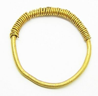 4th - 3rd century B.C. Iron Age Celtiberian Ladies Gold Finger Ring Size 5 1/2