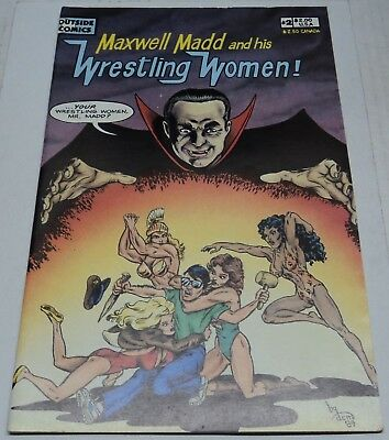 MAXWELL MADD AND HIS WRESTLING WOMEN #2 (1989) Charles Treadwell (FN) RARE