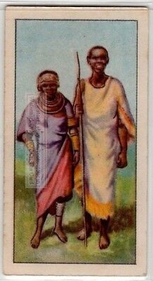 Native African Dinka Woman And Child 80+  Y/O Ad Trade Card