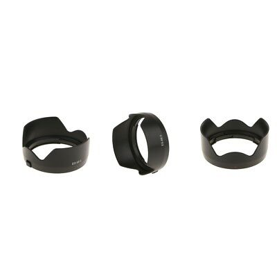 3 Pieces Bayonet Mount Lens Hood for Canon EOS EF 50mm f/1.8 STM 49mm Lenses