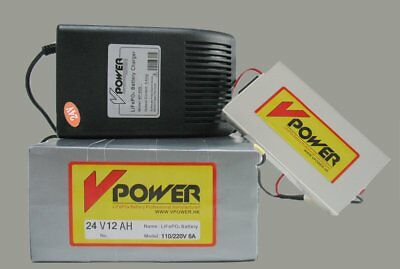 Electric Scooters Lifepo4 Battery 24V 12AH E-bike Rechargeable Power Batteries