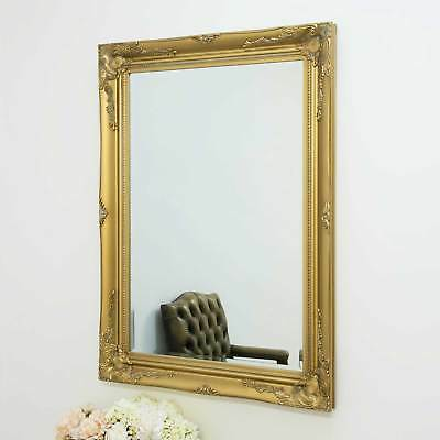 Large Gold Antique Shabby Chic Ornate Wall Mirror 3Ft6 X 2Ft6 108cm X 78cm