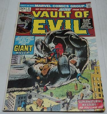 VAULT OF EVIL #9 (Marvel Comics 1974) Stan Lee story (FN+) Russ Heath cvr & art