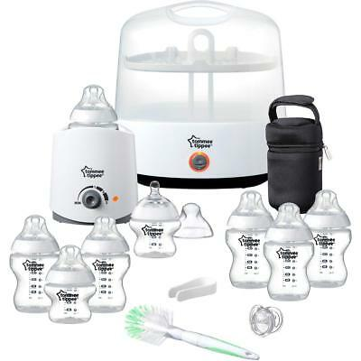 TOMMEE TIPPEE Sterilizer Essential Starter Kit with Extra Bottles & Brush -White
