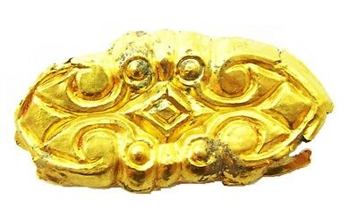 5th century B.C. Nice Ancient Scythian Greek Gold Appliqué Repoussé Design