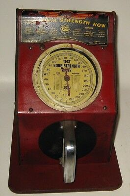 Craft Engineering Strength Tester 1 Cent Coin-op Coin Operated Trade Simulator