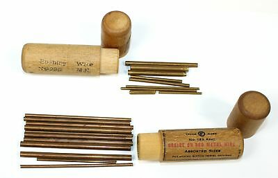 LOT of WATCHMAKER BRASS BUSHING WIRE No. 123 and No. 2318 - OH1399