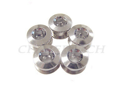 x5 New Alloy Cycling Bike Bicycle Chainring Bolts for Single Speed Crank Black