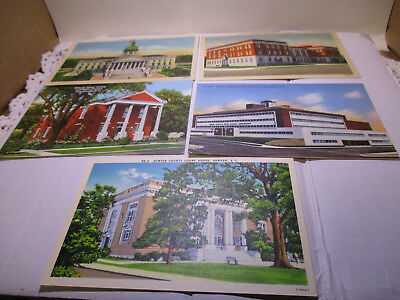 Vintage LOT OF 9 SOUTH CAROLINA postcards. 8 Unposted, 1 Posted  linens