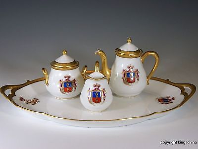 PRINCE LOBANOV ROVTOSKY RUSSIAN IMPERIAL ARMORIAL porcelain TOY TEA SET LIMOGES