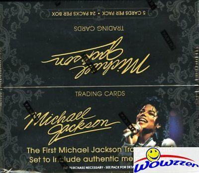 Panini Michael Jackson MASSIVE Factory Sealed 24 Pack Box-120 Cards!! Loaded!