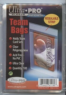 100 Ultra Pro Resealable Team Set Bags 1 Pack Sleeves