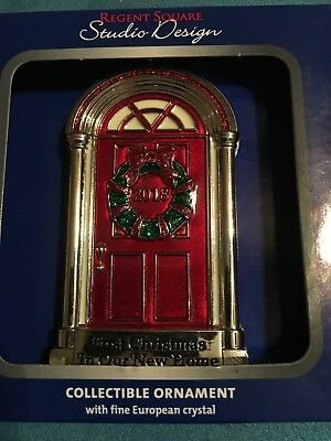 regent square 2018 first christmas our new home ornament wreath front door nrfb